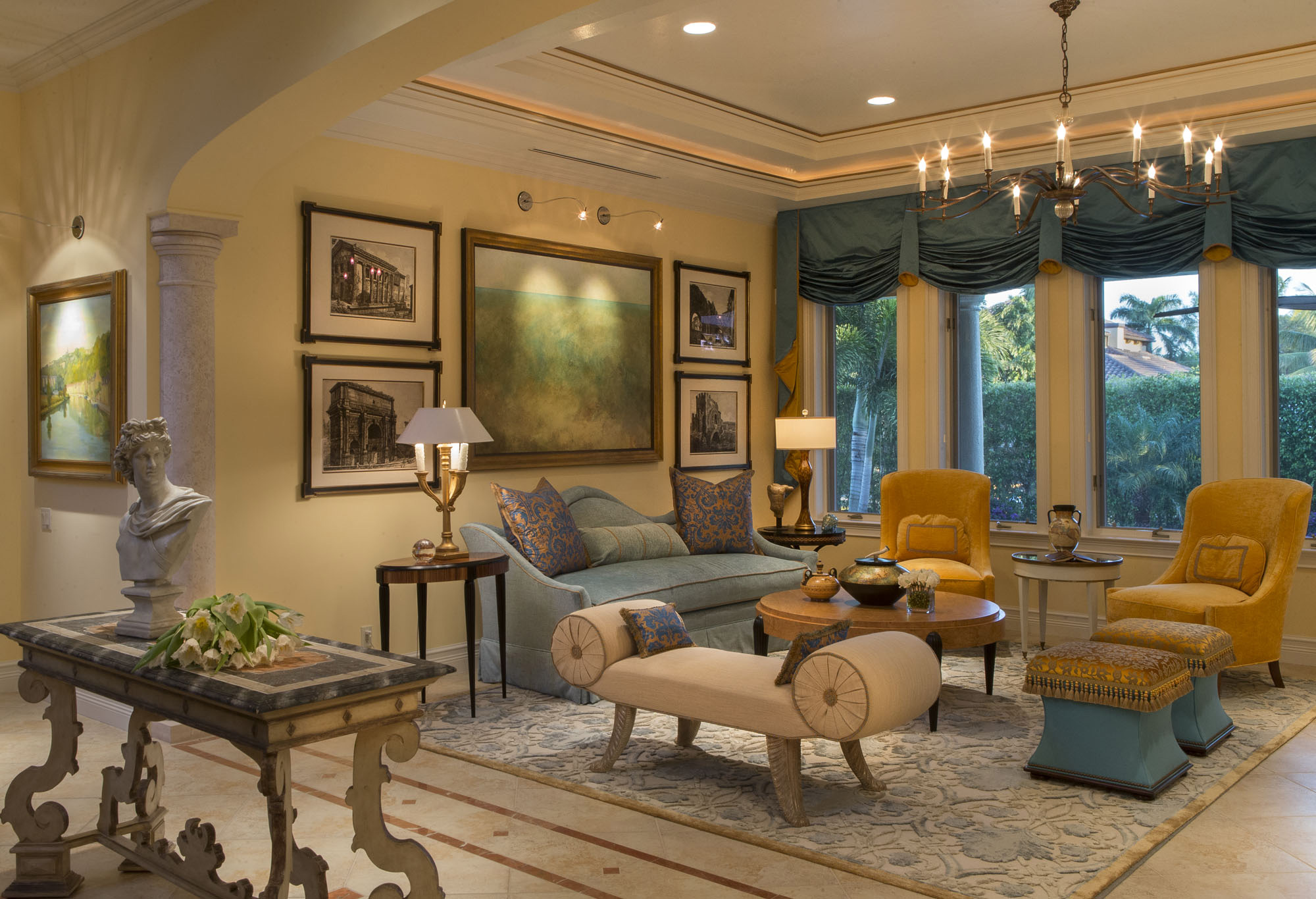 Living Room, Naples Interior Decorating · Living Room Design